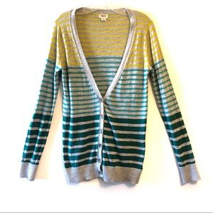 🛍5/$25 Mossimo Supply Co. Multicolor Stripe Cardi